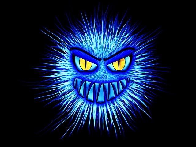 modrý monster